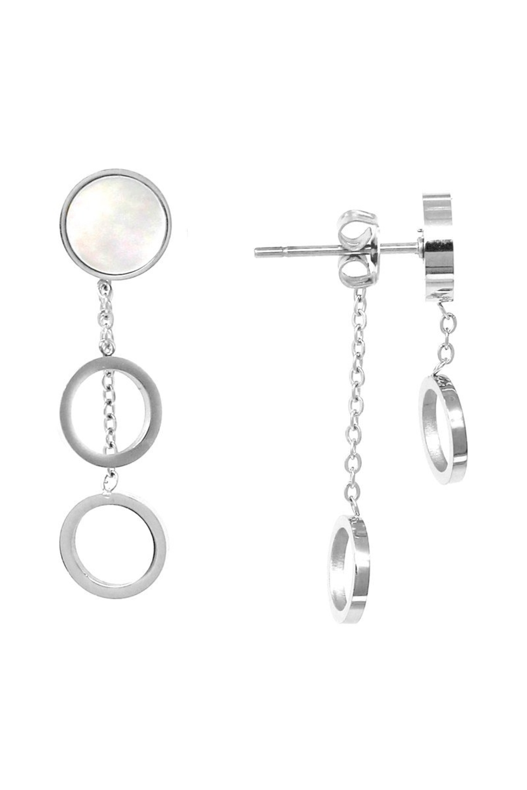 US Jewelry House Double Sided Earrings - Front Cropped Image