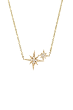 Sydney Evan Double Starburst Necklace - Alternate List Image