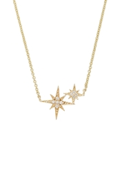 Sydney Evan Double Starburst Necklace - Front cropped