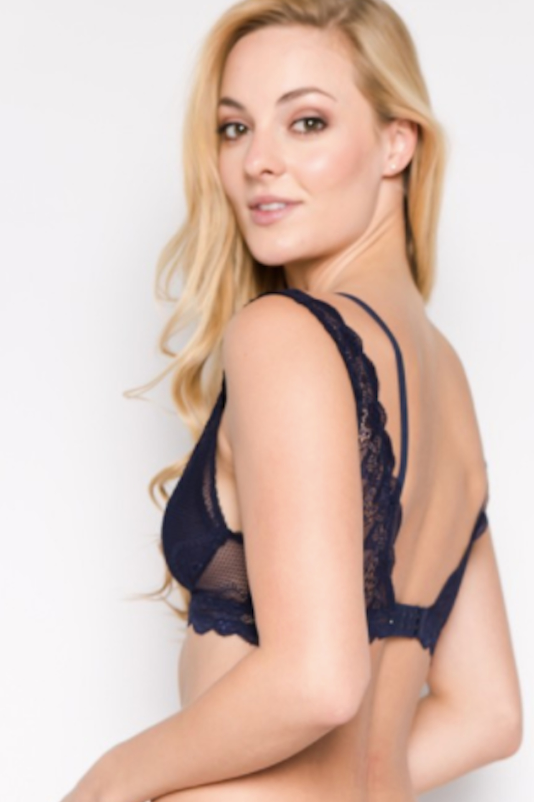 Anemone Double strap lace bralette - Front Full Image