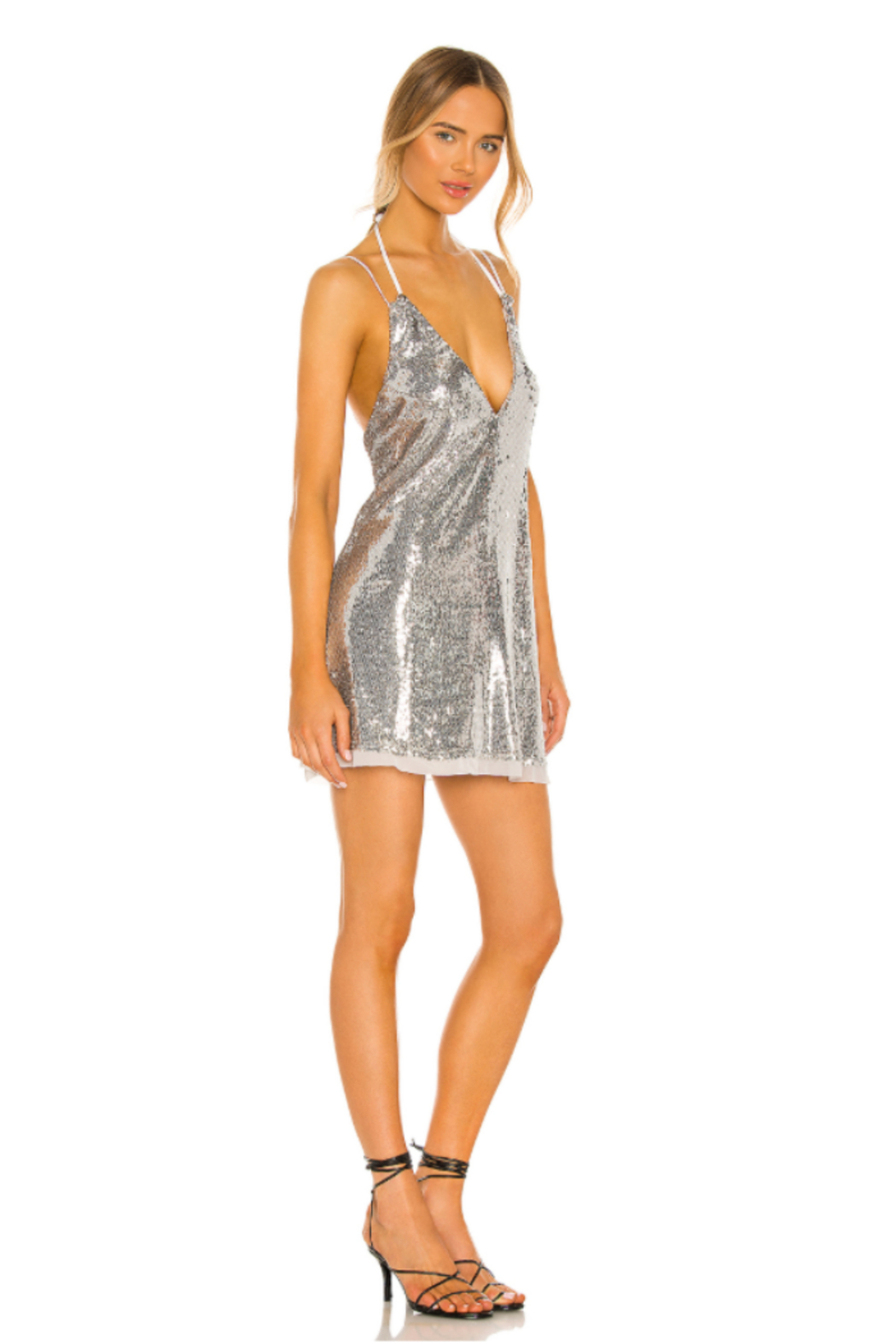 Free People  Double Take Sequin Mini - Front Full Image