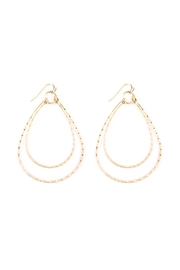 Riah Fashion Double-Teardrop Drop Earrings - Product Mini Image