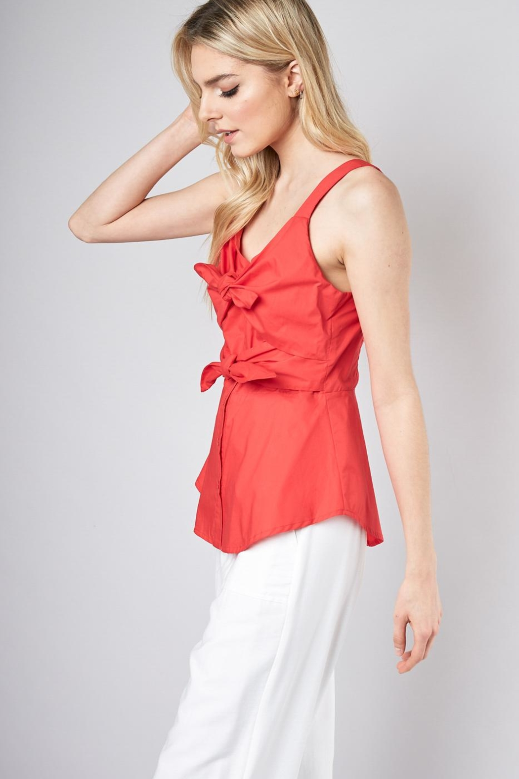 Do & Be Double Tie Blouse - Front Full Image