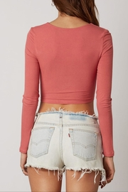 Cotton Candy Double Tie-Front Top - Side cropped