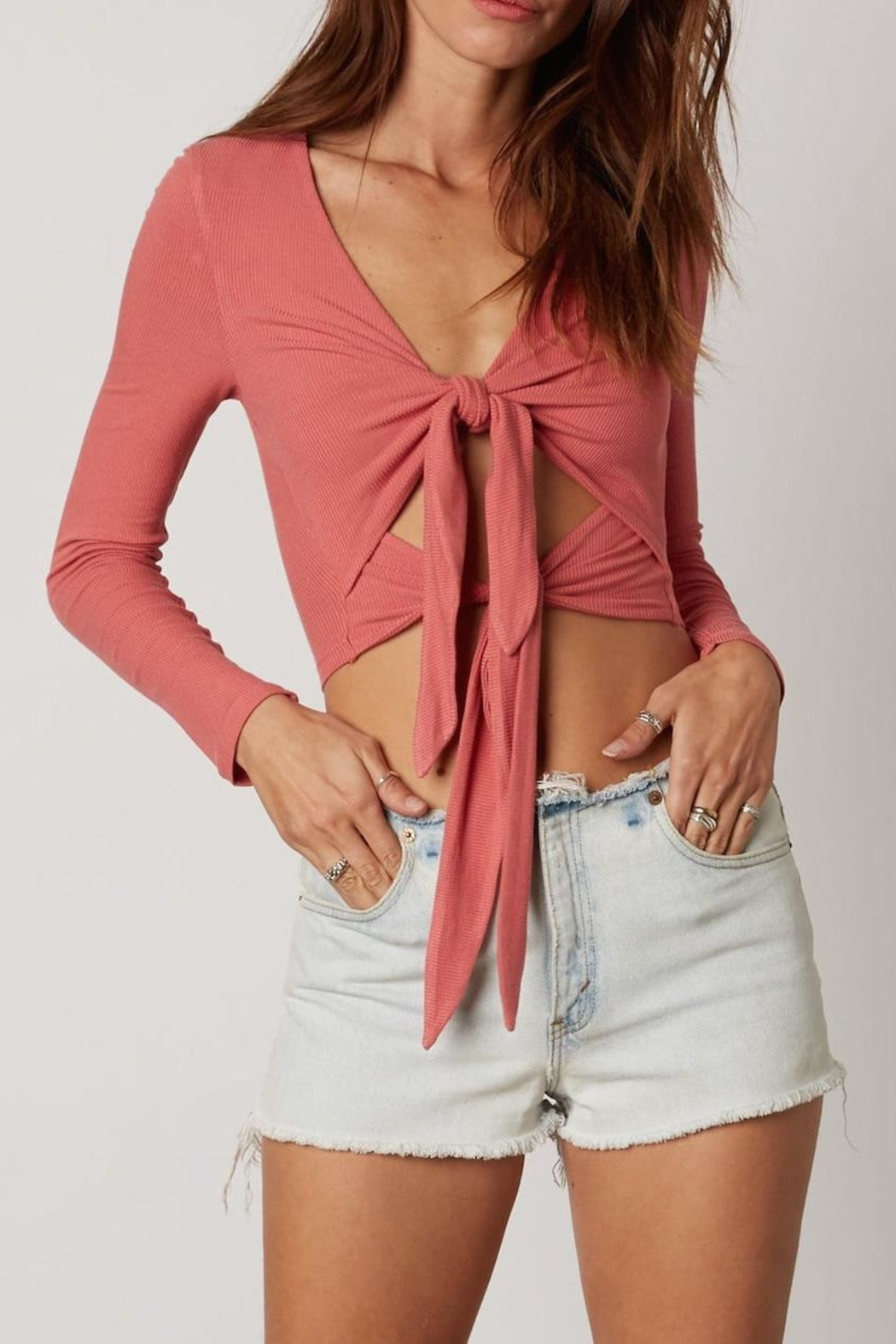 Cotton Candy Double Tie-Front Top - Main Image