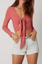 Cotton Candy Double Tie-Front Top - Product Mini Image