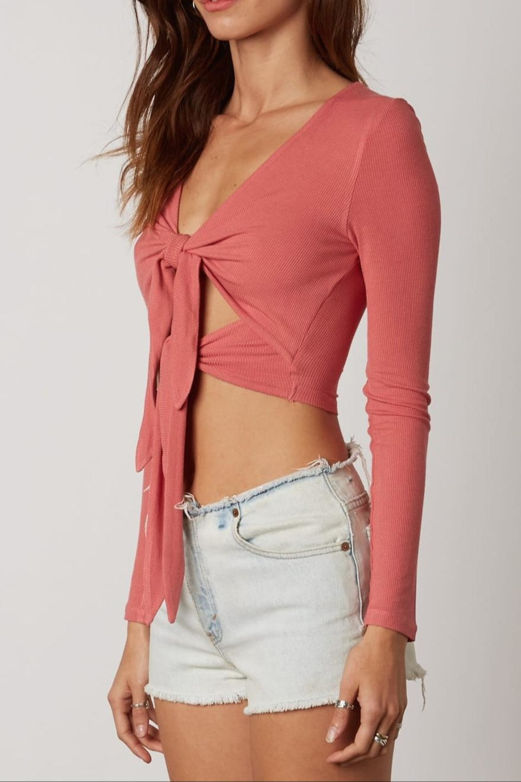 Cotton Candy Double Tie-Front Top - Front Full Image