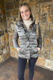 Anorak  Double up Quilted Iridescent Blazer - Product Mini Image