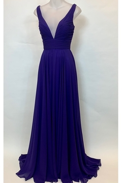 Mac Duggal DOUBLE V-NECK CHIFFON GOWN    . - Product List Image