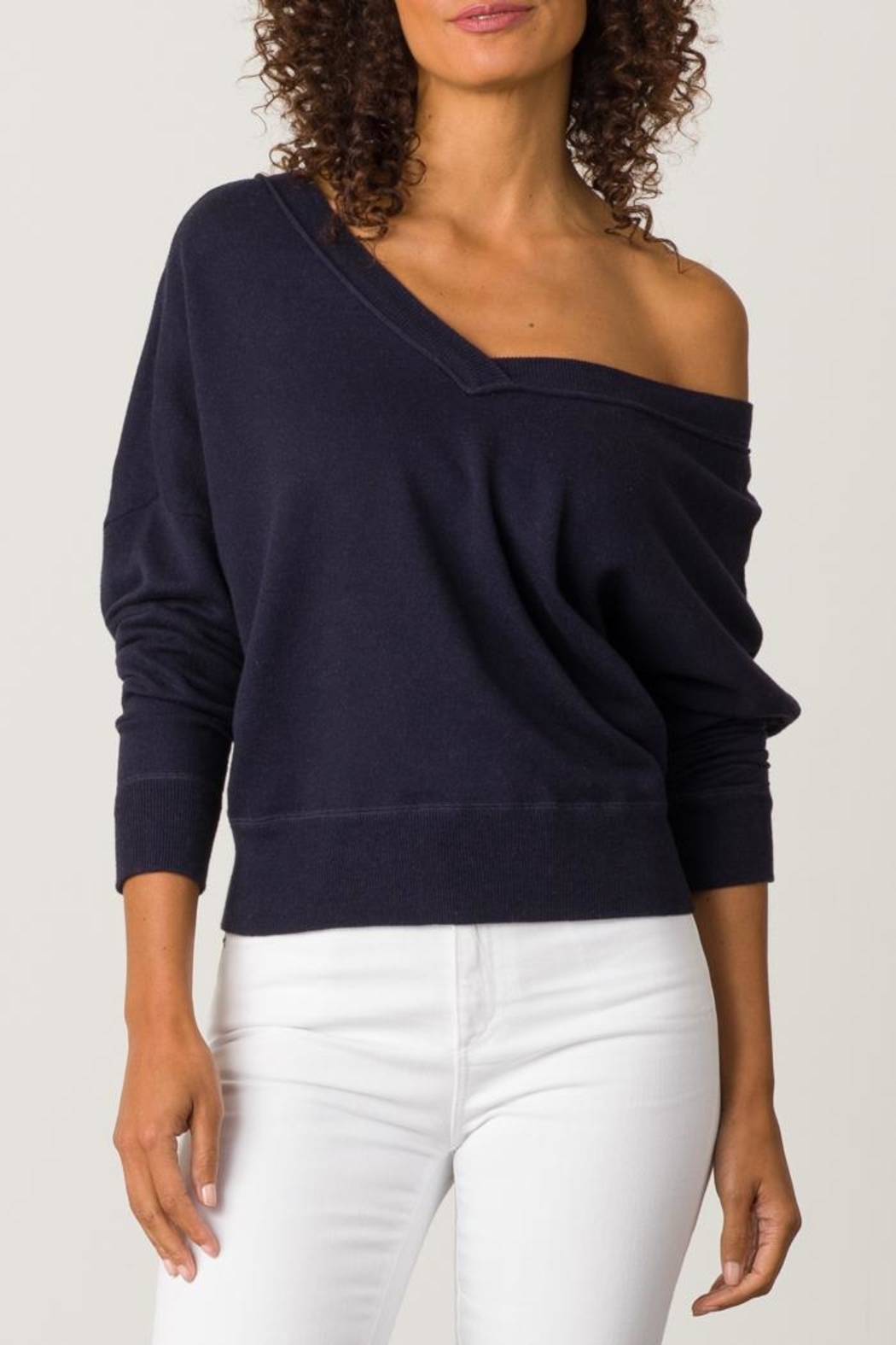 Margaret O'Leary Double V-Neck Sweatshirt - Front Cropped Image