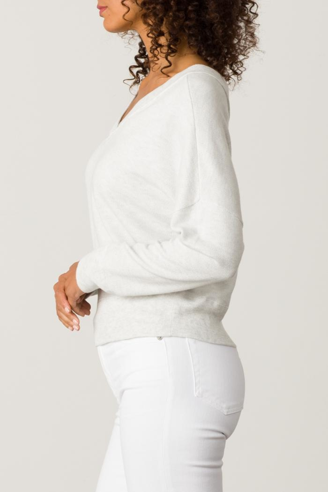 Margaret O'Leary Double V-Neck Sweatshirt - Front Full Image