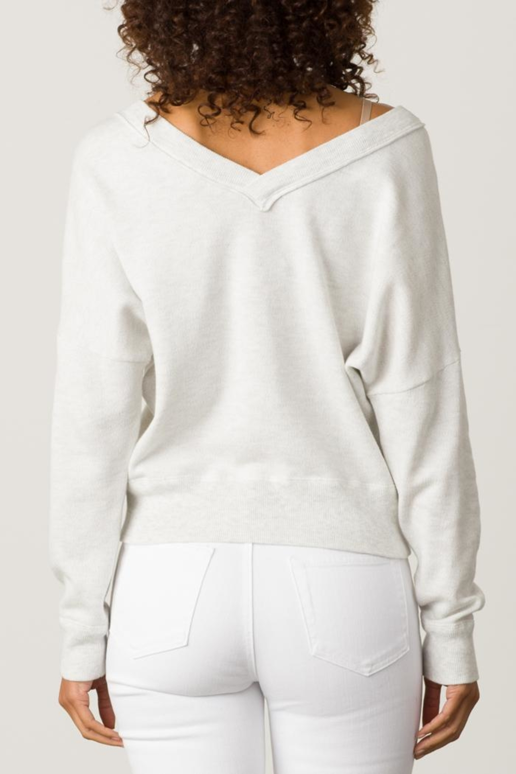 Margaret O'Leary Double V-Neck Sweatshirt - Side Cropped Image
