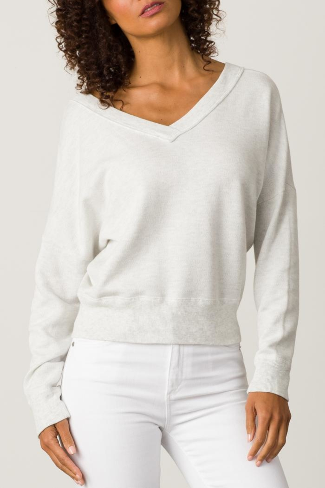 Margaret O'Leary Double V-Neck Sweatshirt - Main Image