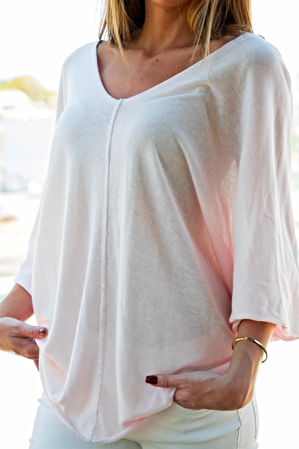 Brand Bazar Double-V Neck Top - Side Cropped Image