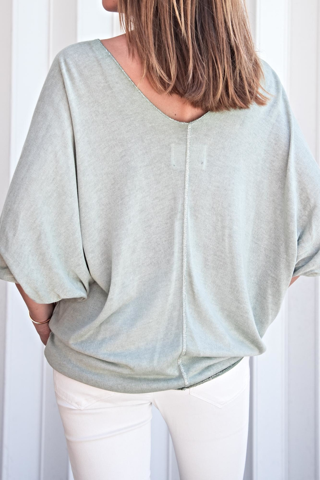 Brand Bazar Double V-Neck Top - Front Full Image