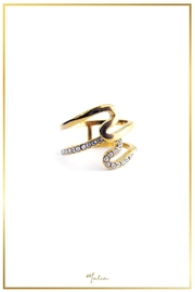 Malia Jewelry Double Wave Ring - Product Mini Image