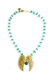 Malia Jewelry Double-Wing Jade Necklace - Front cropped