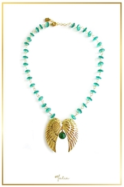 Malia Jewelry Double-Wing Jade Necklace - Product Mini Image