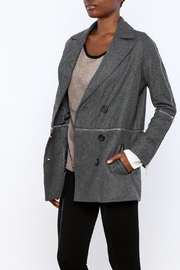 Double Zero Twofer Charcoal Jacket - Front cropped