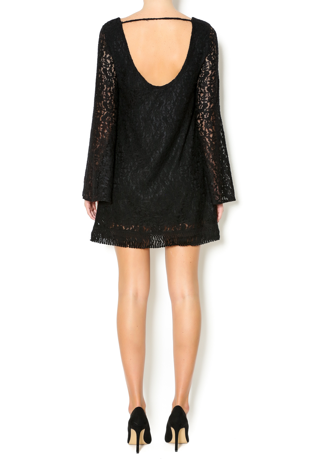 Double Zero A-Line Lace Dress - Side Cropped Image