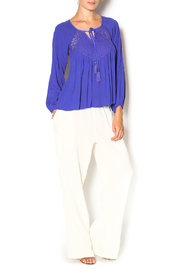 Double Zero Azure Gauze Blouse - Front full body