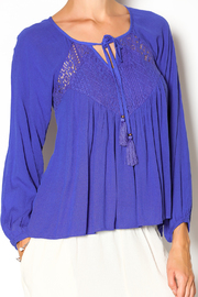 Double Zero Azure Gauze Blouse - Other