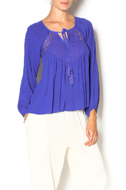 Double Zero Azure Gauze Blouse - Product Mini Image