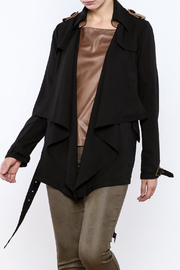 Double Zero Black Draped Jacket - Product Mini Image