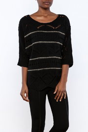 Double Zero Black Metallic Sweater - Product Mini Image