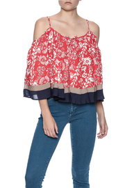 Double Zero Cold Shoulder Top - Front cropped
