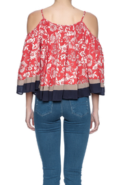 Double Zero Cold Shoulder Top - Back cropped