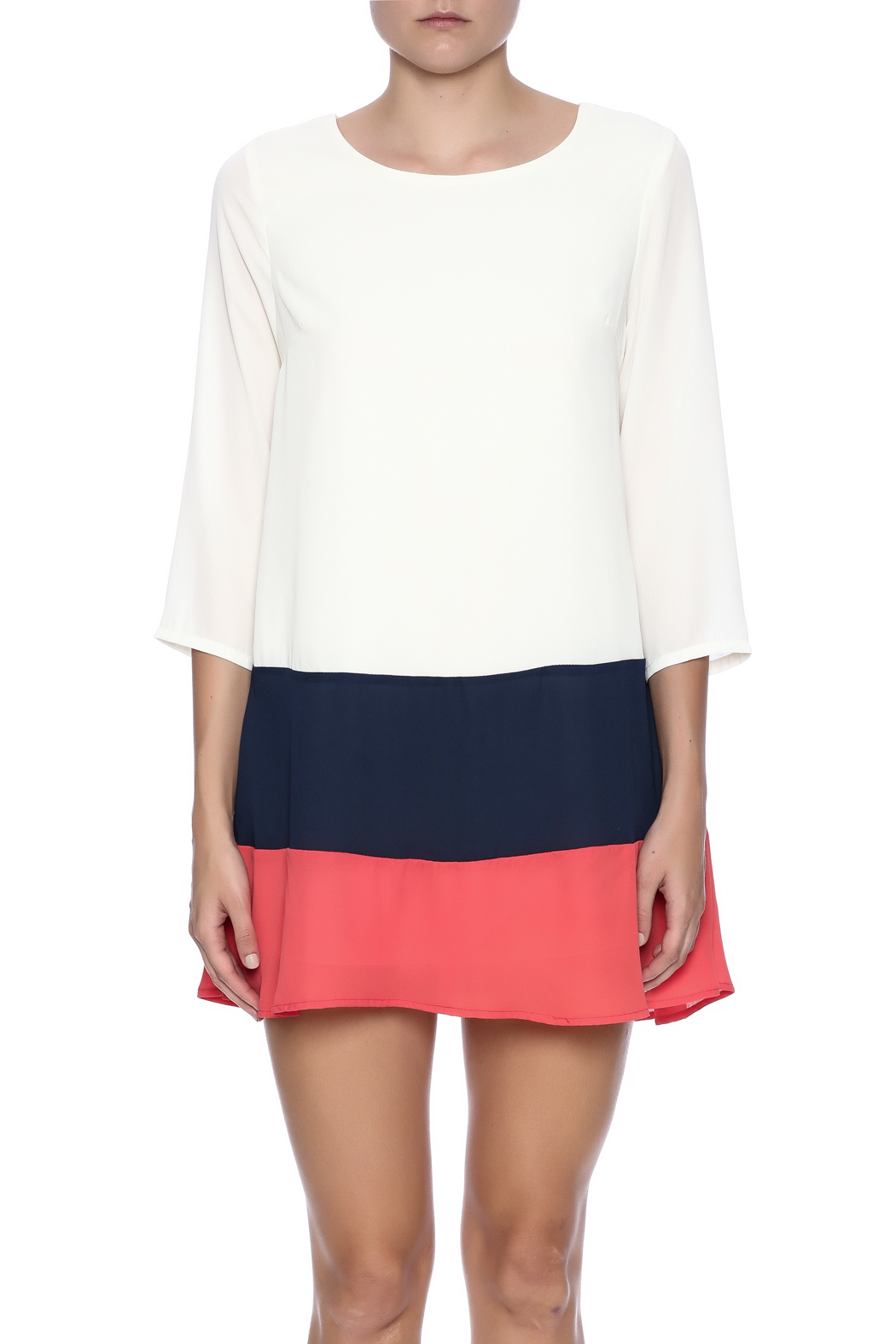 Double Zero Color Block Dress - Side Cropped Image