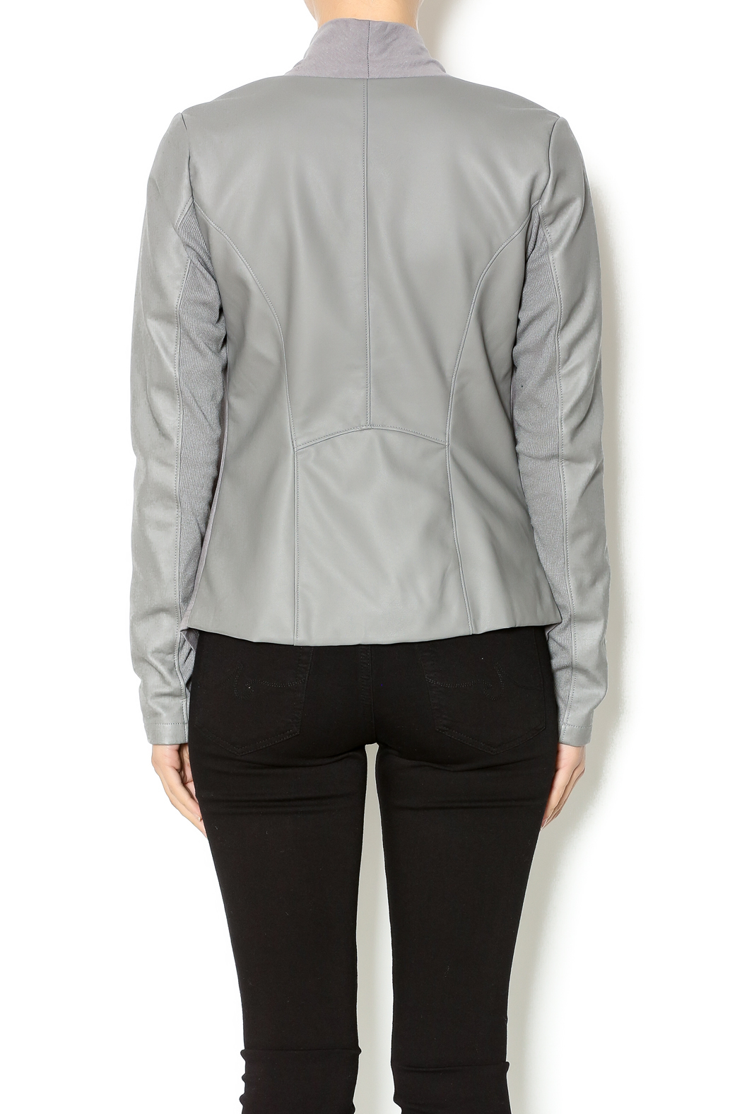 Double Zero Dove Grey Jacket - Back Cropped Image