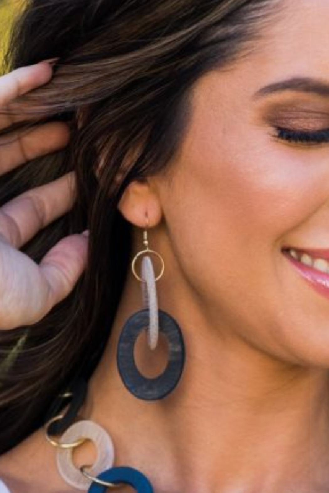 Anju Handcrafted Artisan Jewelry Double Zero Earring - Front Full Image