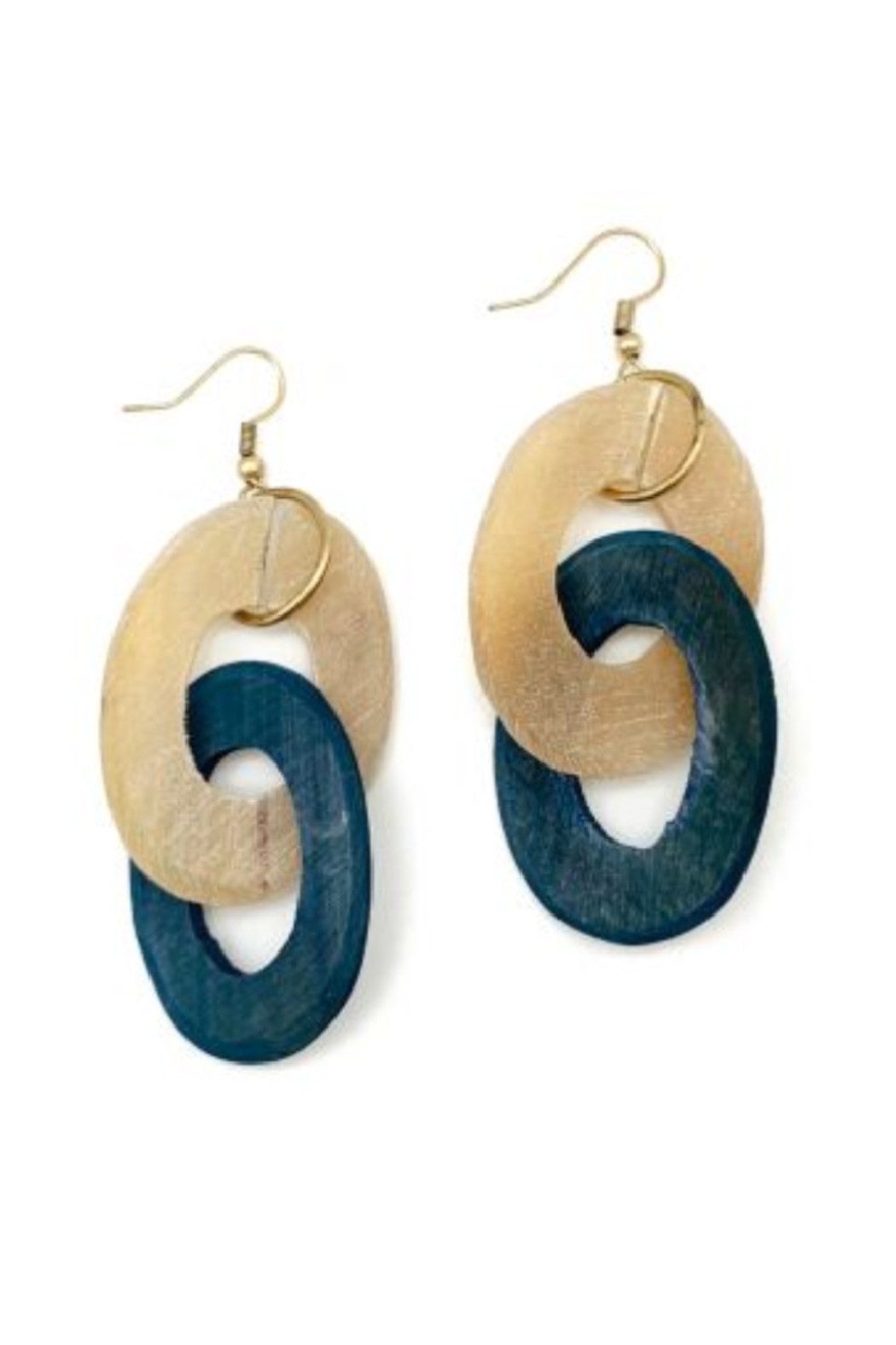 Anju Handcrafted Artisan Jewelry Double Zero Earring - Front Cropped Image