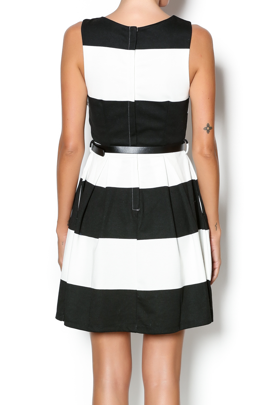 Double Zero Fit And Flare Dress - Back Cropped Image