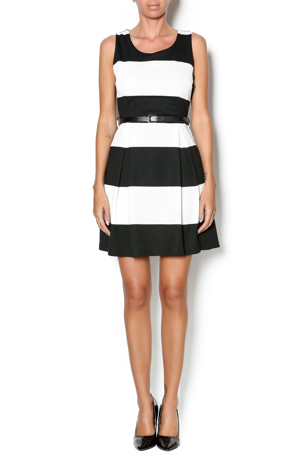 Double Zero Fit And Flare Dress - Front Full Image