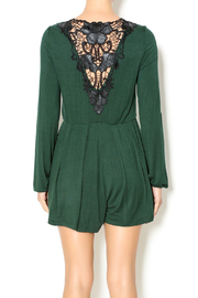 Double Zero Hunter Green Romper - Back cropped