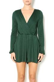 Double Zero Hunter Green Romper - Front cropped