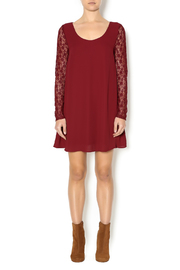 Double Zero Lace Burgundy Dress - Front full body