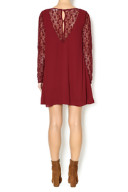 Double Zero Lace Burgundy Dress - Side cropped