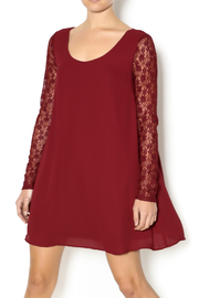 Double Zero Lace Burgundy Dress - Front cropped