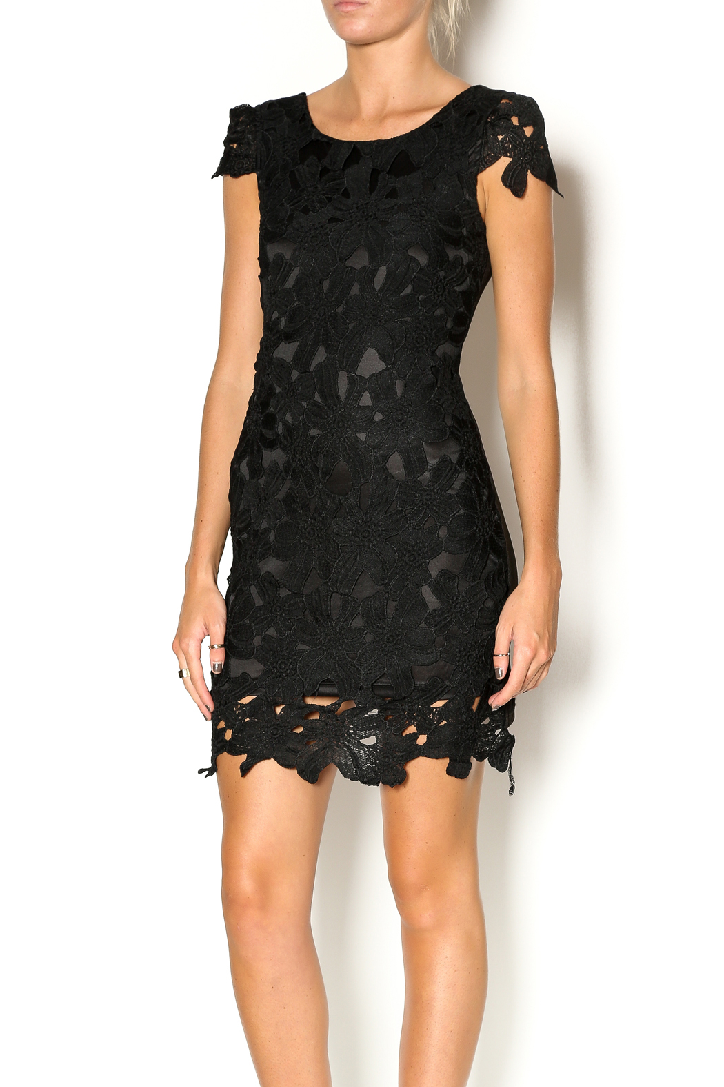 Double Zero Lace Dress - Front Cropped Image