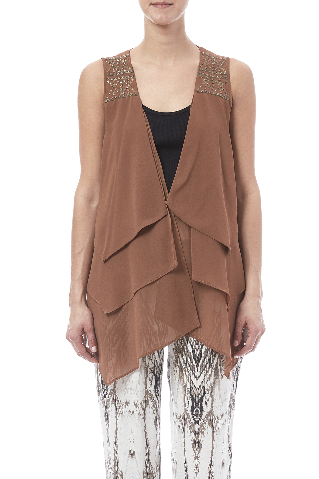 Double Zero Layered Vest - Side Cropped Image