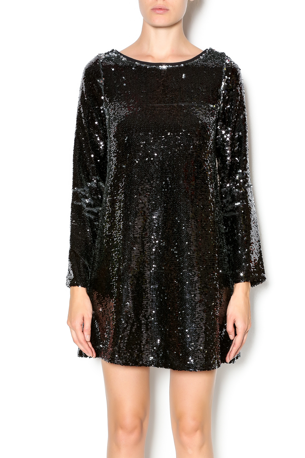 Double Zero Long Sleeve Sequin Dress - Main Image