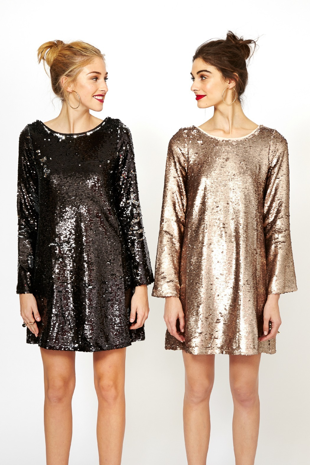 Double Zero Long Sleeve Sequin Dress from Naples by Petunias of ...