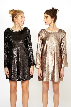 Double Zero Long Sleeve Sequin Dress - Product List Image