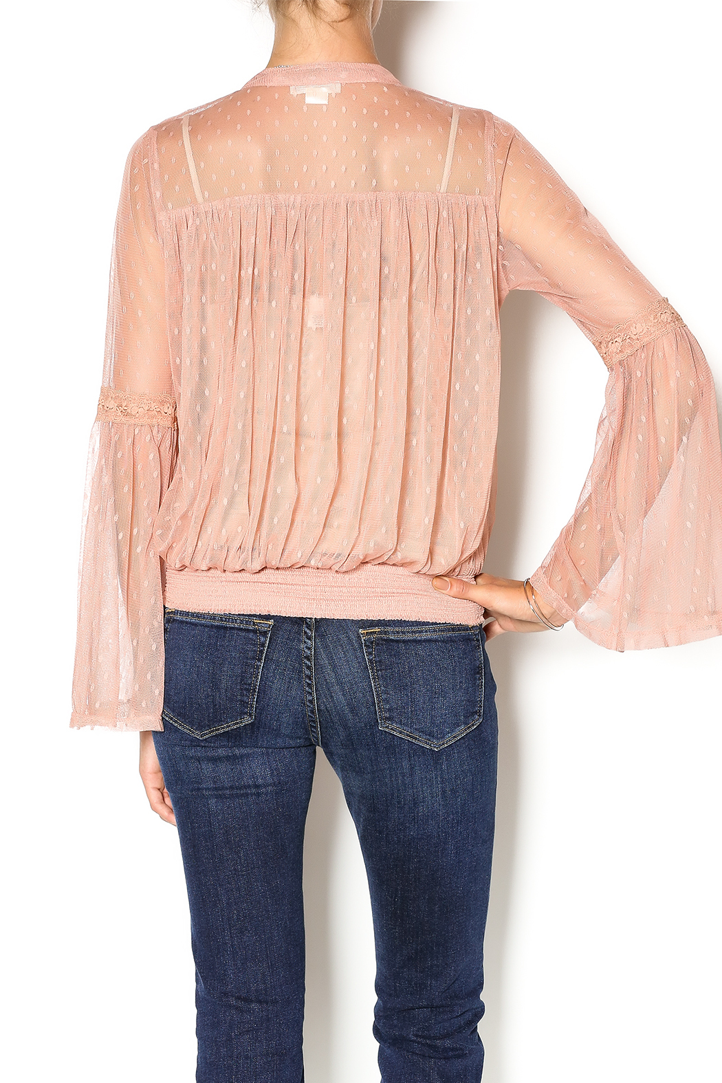 Double Zero Rose Quartz Blouse - Back Cropped Image