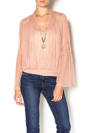 Double Zero Rose Quartz Blouse - Front cropped