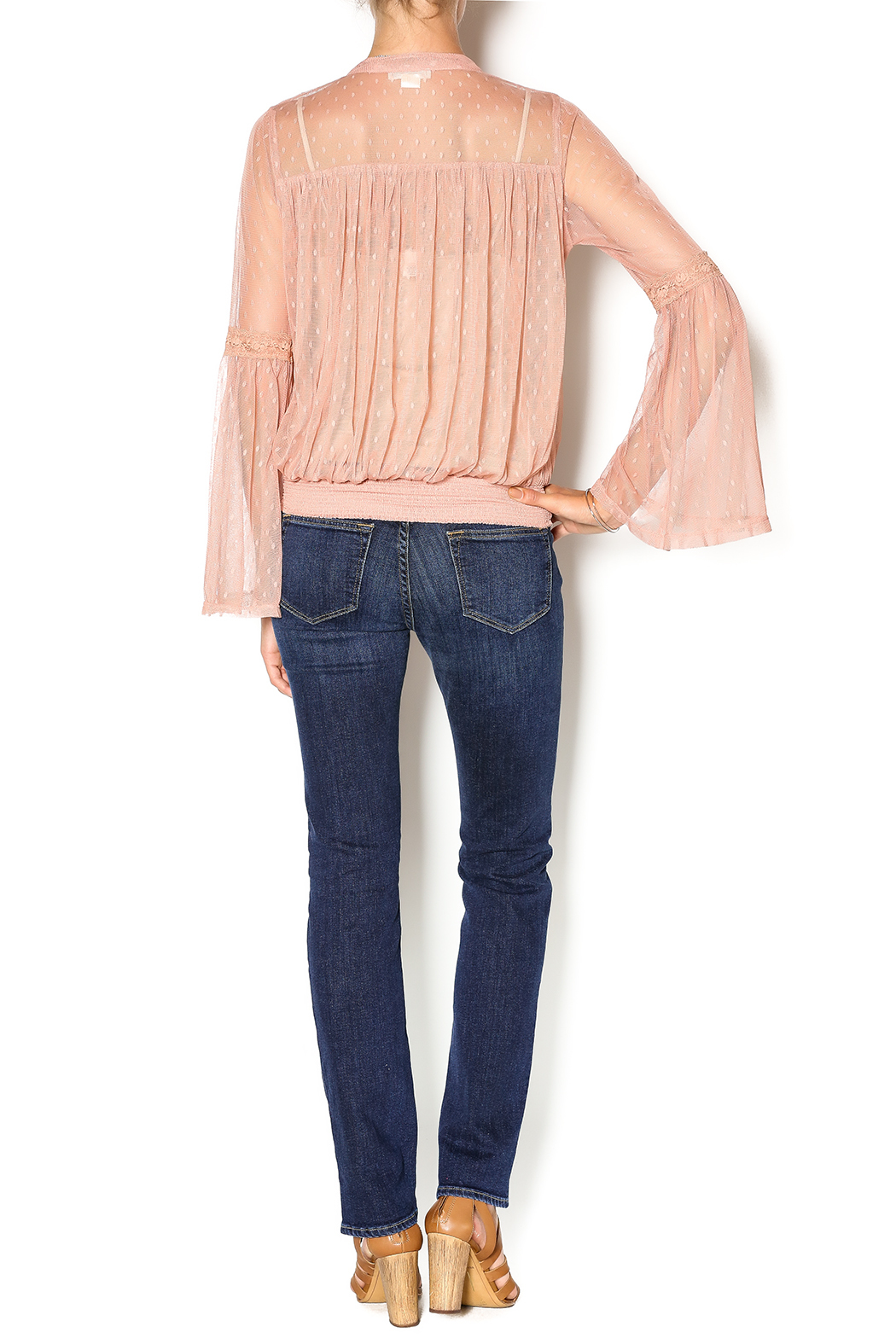 Double Zero Rose Quartz Blouse - Side Cropped Image